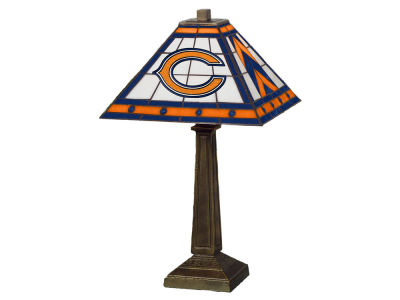 Chicago Bears Memory Company Stained Glass Mission Lamp