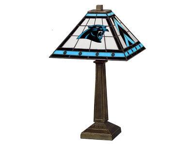 Carolina Panthers Memory Company Stained Glass Mission Lamp