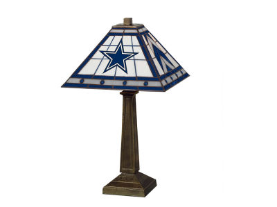 Dallas Cowboys Memory Company Stained Glass Mission Lamp