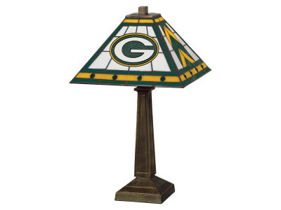 Green Bay Packers Memory Company Stained Glass Mission Lamp