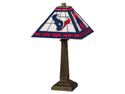 Houston Texans Memory Company Stained Glass Mission Lamp