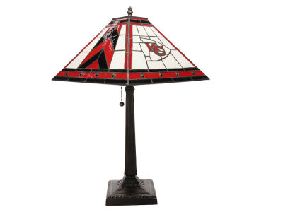 Kansas City Chiefs Memory Company Stained Glass Mission Lamp