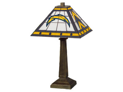 Los Angeles Chargers Memory Company Stained Glass Mission Lamp