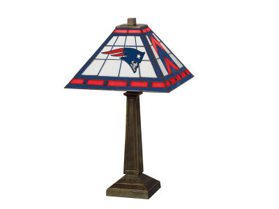 New England Patriots Memory Company Stained Glass Mission Lamp