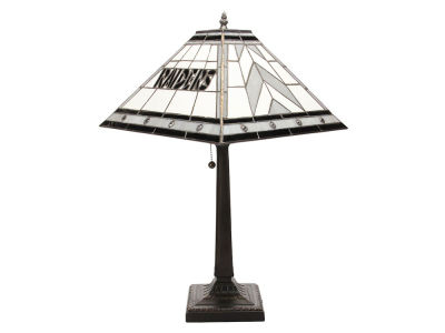 Oakland Raiders Memory Company Stained Glass Mission Lamp
