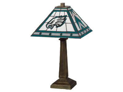 Philadelphia Eagles Memory Company Stained Glass Mission Lamp