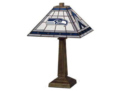 Seattle Seahawks Memory Company Stained Glass Mission Lamp