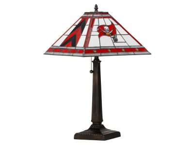 Tampa Bay Buccaneers Memory Company Stained Glass Mission Lamp