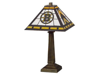 Boston Bruins Memory Company Stained Glass Mission Lamp