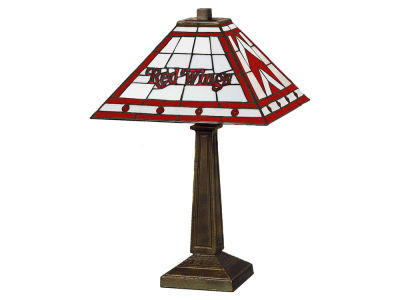 Detroit Red Wings Memory Company Stained Glass Mission Lamp
