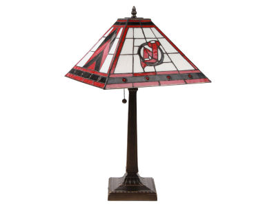 New Jersey Devils Memory Company Stained Glass Mission Lamp