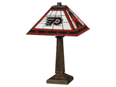 Philadelphia Flyers Memory Company Stained Glass Mission Lamp