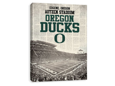 Oregon Ducks ScoreArt NCAA Newspaper Stadium Printed Canvas