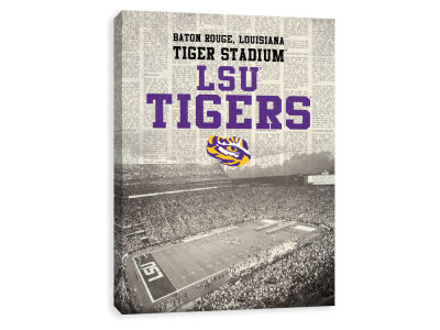 LSU Tigers ScoreArt NCAA Newspaper Stadium Printed Canvas