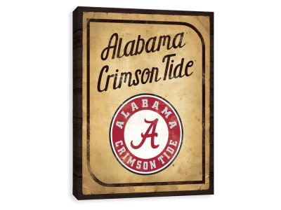 Alabama Crimson Tide ScoreArt NCAA Vintage Card Printed Canvas