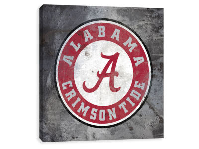 Alabama Crimson Tide ScoreArt NCAA Logo Rust Printed Canvas