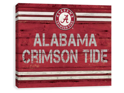 Alabama Crimson Tide ScoreArt NCAA Rustic Banner Large Logo Printed Canvas