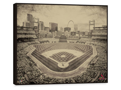 St. Louis Cardinals ScoreArt MLB Vintage Stadium Framed Printed Canvas