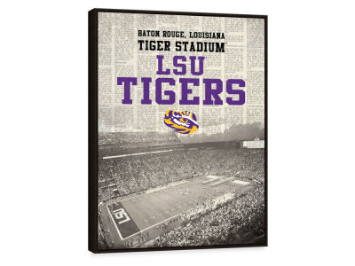 LSU Tigers ScoreArt NCAA Newspaper Stadium Framed Printed Canvas