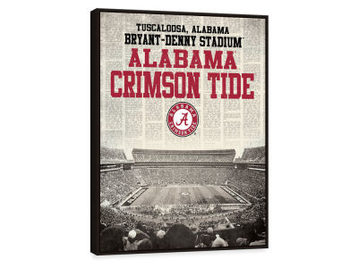 Alabama Crimson Tide ScoreArt NCAA Newspaper Stadium Framed Printed Canvas