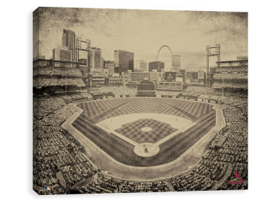 St. Louis Cardinals ScoreArt MLB Vintage Stadium Printed Canvas