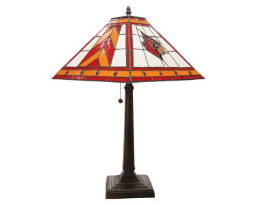 Louisville Cardinals Memory Company Stained Glass Mission Lamp