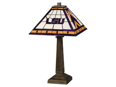 LSU Tigers Memory Company Stained Glass Mission Lamp