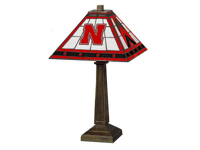 Nebraska Cornhuskers Memory Company Stained Glass Mission Lamp