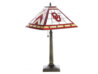 Oklahoma Sooners Memory Company Stained Glass Mission Lamp