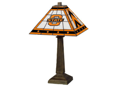 Oklahoma State Cowboys Memory Company Stained Glass Mission Lamp