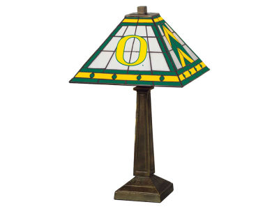 Oregon Ducks Memory Company Stained Glass Mission Lamp