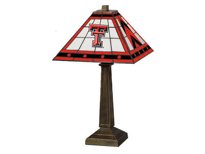 Texas Tech Red Raiders Memory Company Stained Glass Mission Lamp