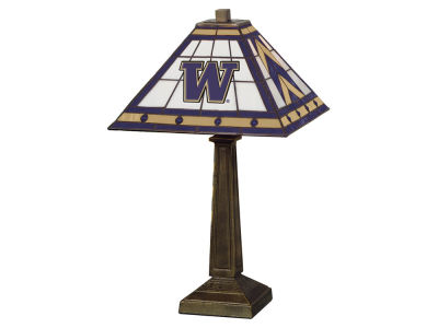 Washington Huskies Memory Company Stained Glass Mission Lamp