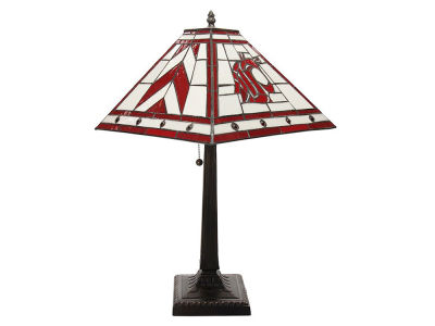 Washington State Cougars Memory Company Stained Glass Mission Lamp