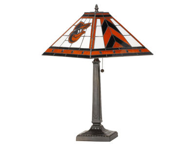 Baltimore Orioles Memory Company Stained Glass Mission Lamp
