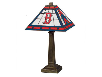 Boston Red Sox Memory Company Stained Glass Mission Lamp