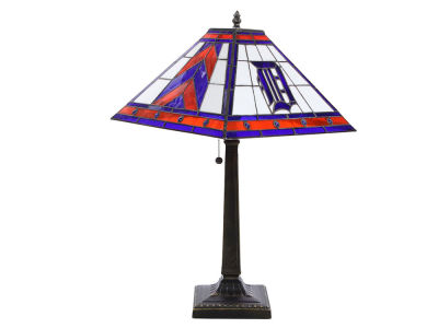 Detroit Tigers Memory Company Stained Glass Mission Lamp