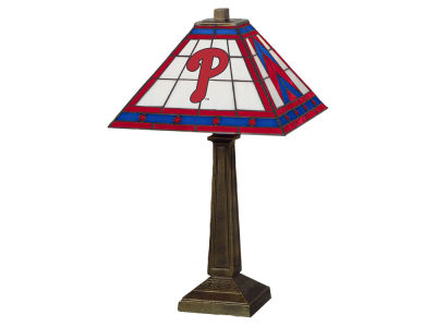 Philadelphia Phillies Memory Company Stained Glass Mission Lamp