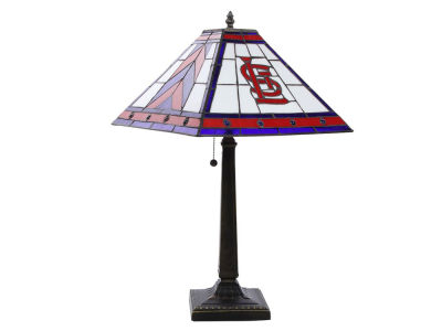St. Louis Cardinals Memory Company Stained Glass Mission Lamp
