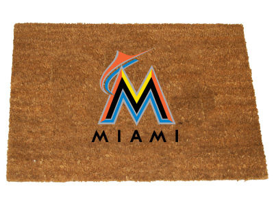 Miami Marlins Memory Company Colored Logo Door Mat