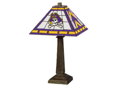 East Carolina Pirates Memory Company Stained Glass Mission Lamp