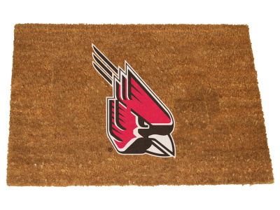 Ball State Cardinals Memory Company Colored Logo Door Mat