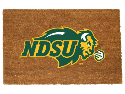North Dakota State Bison Memory Company Colored Logo Door Mat