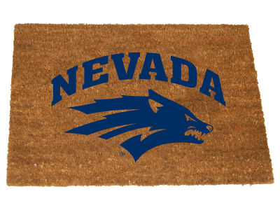 Nevada Wolf Pack Memory Company Colored Logo Door Mat