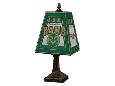Colorado State Rams Memory Company Art Glass Table Lamp