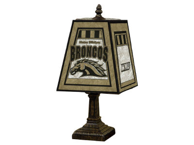Western Michigan Broncos Memory Company Art Glass Table Lamp