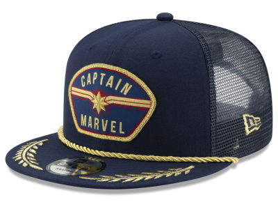 New Era Captain Marvel Patched Trucker Cap