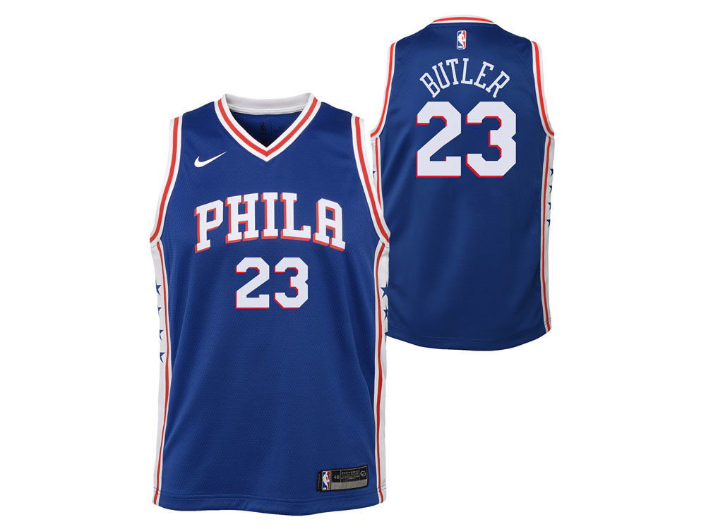 143adc282 Philadelphia 76ers Jimmy Butler Nike NBA Youth Icon Swingman Jersey ...