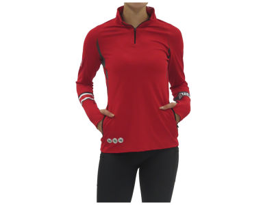 Ohio State Buckeyes NCAA Women's Helmet Sticker Quarter Zip Pullover
