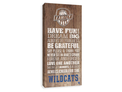 Kentucky Wildcats ScoreArt NCAA Family Rules Icon Wood Printed Canvas